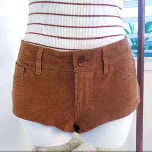 NWOT Lucky Brand Suede 100% Genuine Suede Shorts